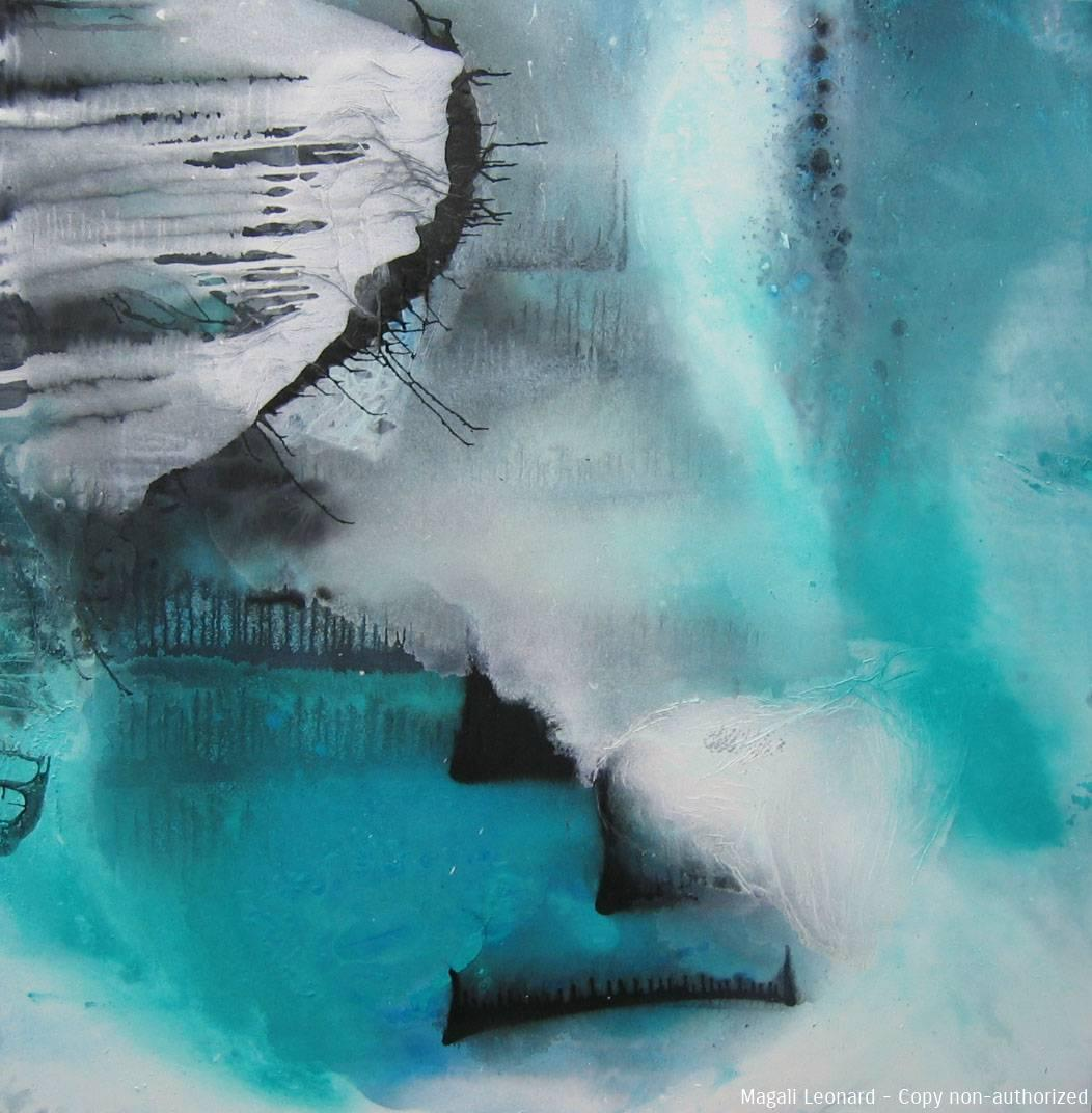Cosmogonie 10, 2010, Acrylic on canvas, 39,37 X 39,37 inches copie