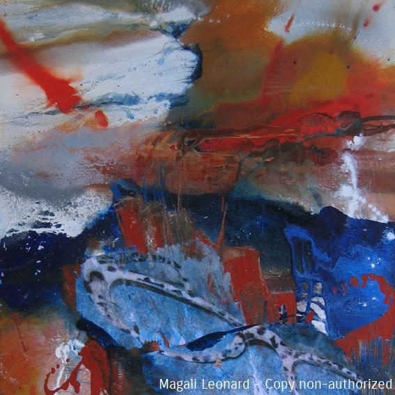 Rafale 1, 2008, acrylique sur toile, 80 x 80 cm