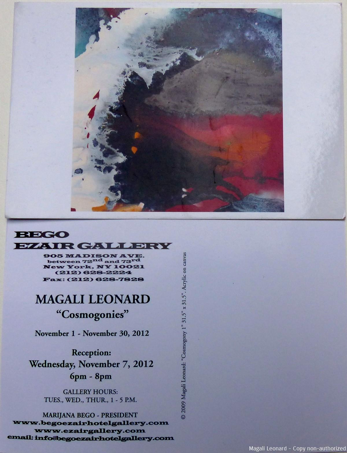 carte invitationgalerie Ezair Bego New York 2012