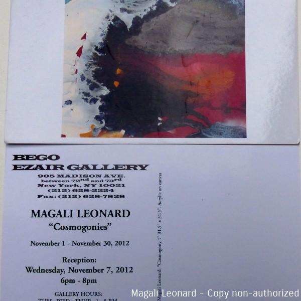 carte invitationgalerie Ezair Bego New York 2012