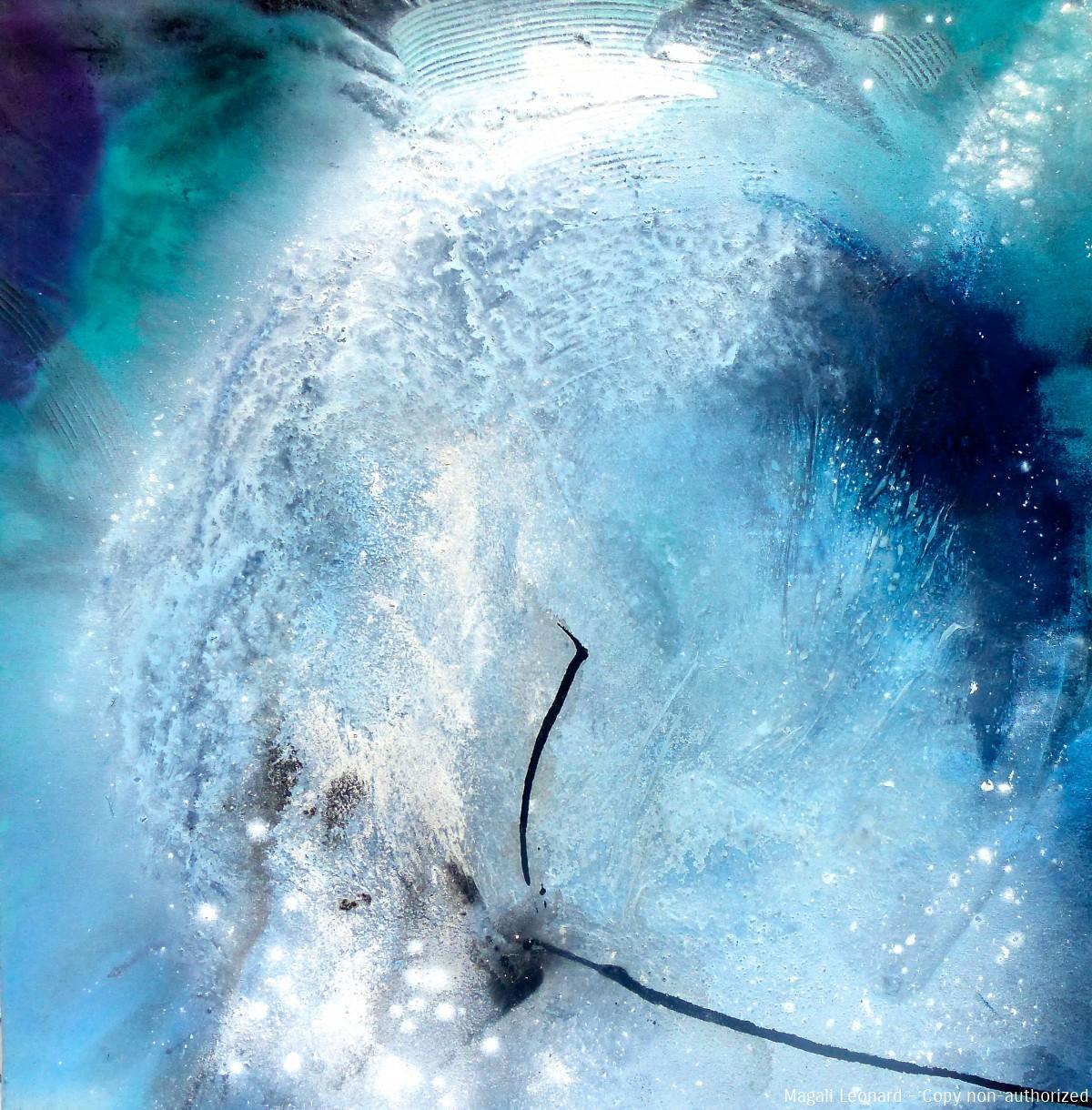 Cosmogonie ou Oxygène 2013, Acrylic on canvas, 80 X 80 cm, 31,49 x31,'9 inches