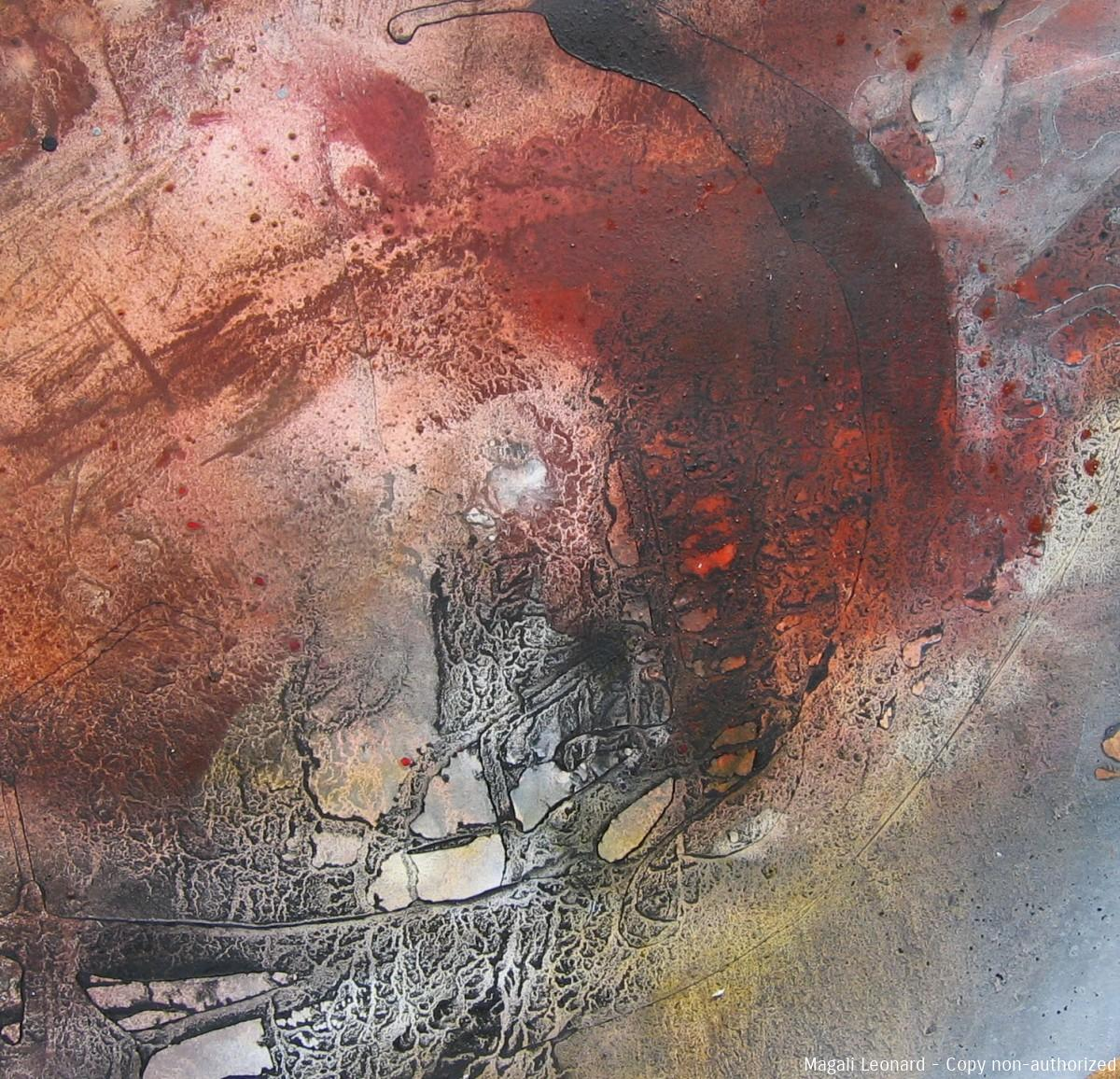Terre 1, 2008, mixed media on paper, 15,74 X 15,74 inches ,40 X 40 cm copie