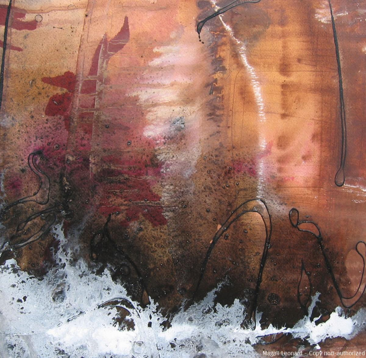 Terre 2, 2008, Mixed media on paper, 15,74 X 15,74 inches, 40 X 40 cm copie