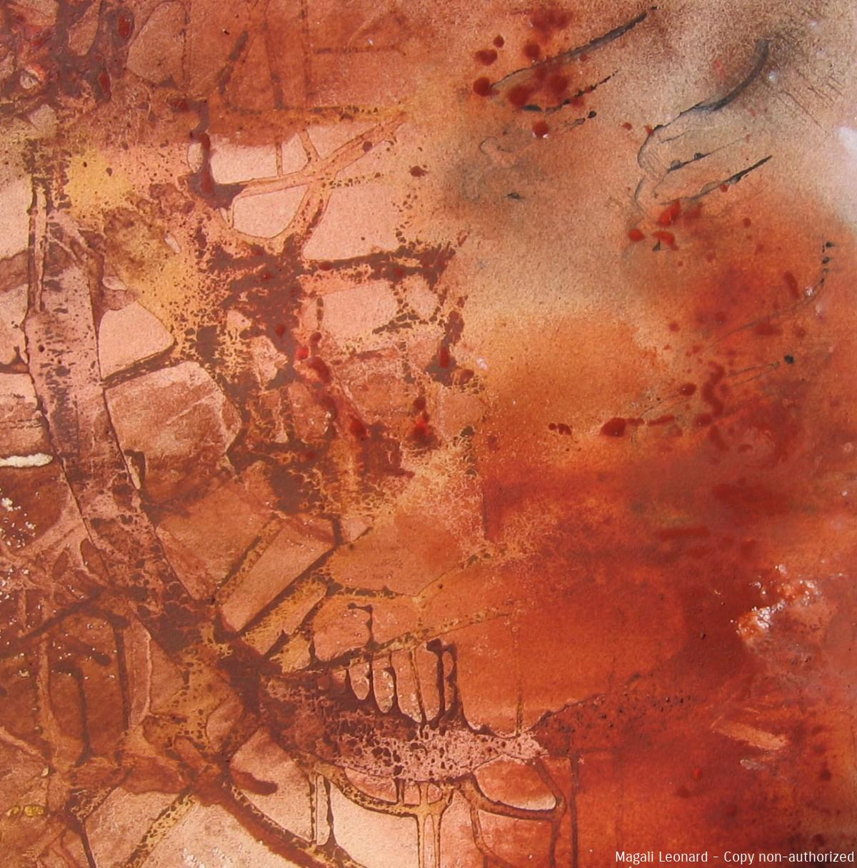Terre 6, 2008, Mixed media on canvas, 15,74 X 15,74 inches copie