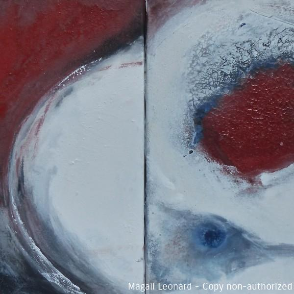Acrylic on canvas, 2 panels &(,74 X 15,74 inches , 2 pans 40 40 cm