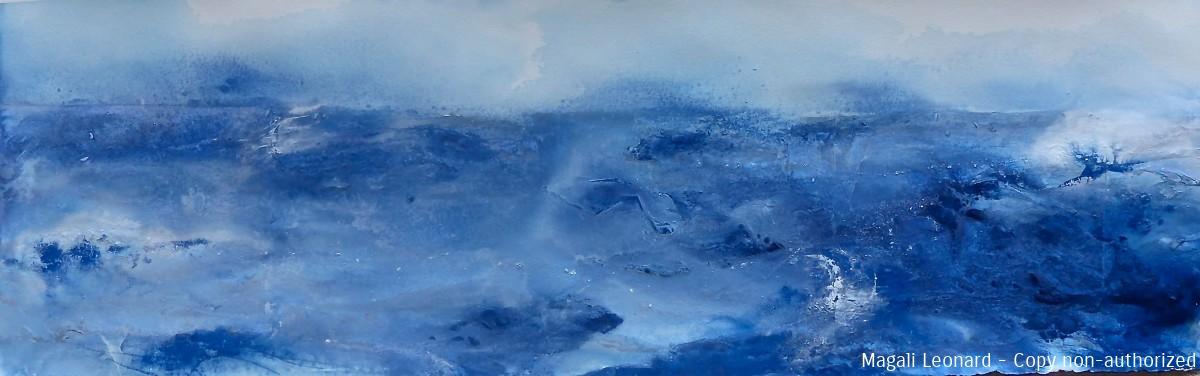 Acrylique sur Velin d'arches , 100 x 33 cm